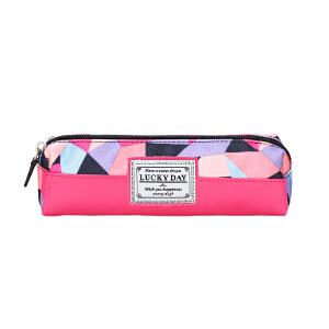 卡拉羊大容量卡通多功能笔袋男女小学生 初中生简约小清新文具盒CX0397