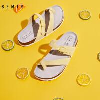 【直降价:59元,领券更优惠,仅限6.5森马超级品牌日!】Semir拖鞋女外穿2020年夏季新款时尚拖鞋沙滩鞋舒适透气