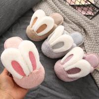 女童男童室内家居防滑保暖秋冬季小孩宝宝棉拖鞋儿童