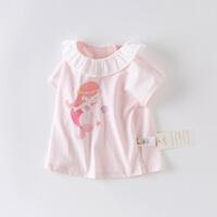 davebella戴维贝拉2020夏季新款女童短袖T恤宝全棉短袖DBM13891