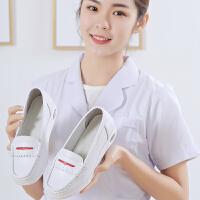 护士鞋冬季白色新款韩版厚底坡跟软底平底舒适透气女单鞋