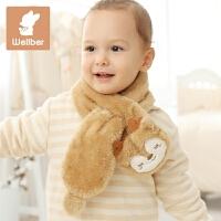 儿童可爱围脖 宝宝围脖秋冬厚婴儿珊瑚绒围巾