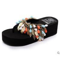 厚底时尚简约拖鞋防滑夹趾人字拖女韩版学生松糕沙滩鞋凉拖鞋