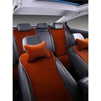 汽车坐垫毛绒三件套单片带靠背后排防滑通用保暖座垫用品