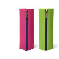 国誉笔袋(KOKUYO) 日本PC22笔袋女|可展开便携式帆布男笔盒 简约方形铅笔盒