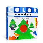 【发顺丰】英文进口原版 Color Wonder Winter Is Here! 儿童启蒙颜色季节认知书 纸板操作书