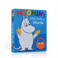 英文原版绘本Moomin's Little Book of Words 小单词书穆明系列姆明一族小肥肥一族故事书幼儿园