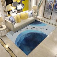 新中式淡雅禅意简约现代客厅欧式茶几沙发书房卧室满铺长方形地毯定制 灰色 XZ03