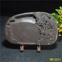 端砚梅花坑砚台.纯手工艺雕刻天然石眼石质细腻实用*砚
