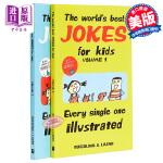 【中商原版】给孩子的笑话绘本2册 英文原版 The Worlds Best Jokes for Kids 幽默笑话 脑