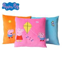 小猪佩奇Peppa Pig粉红猪小妹佩佩猪正版毛绒抱枕靠枕床头沙发枕
