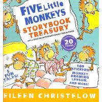 Five Little Monkeys Storybook Treasury 五只小猴子故事书合集(精装)ISBN 9