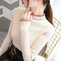 安妮纯半高领毛衣打底衫女2020洋气秋冬新款内搭修身紧身针织衫长袖上衣