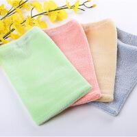 环保弹力手套型免搓澡巾 颜色随机