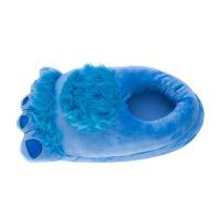 冬季新款卡通男女款棉鞋霍比特大脚丫毛绒室内家居精品保暖棉拖鞋 蓝色 毛毛 均码(34-43码)