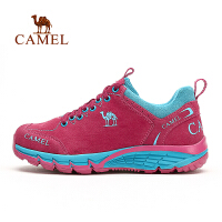 camel骆驼户外女款徒步鞋 秋季新款透气耐磨舒适反绒皮徒步鞋