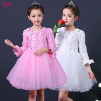 女童公主裙礼服表演服儿童演出服女孩舞蹈小学生跳舞服装长袖