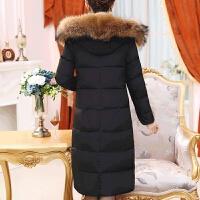 新年特惠中年女装冬装貉子毛领羽绒服中长款40-50岁中老年妈妈装加厚外套
