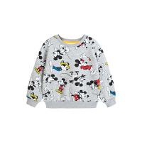 【今日3折�A估�r:50.1元】迪士尼男童加�q�l衣秋冬2020新款童�b卡通米奇休�e�和�����上衣