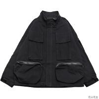 工装女2018新款宽松学生短款棉衣帅气冬装外套W56 黑色