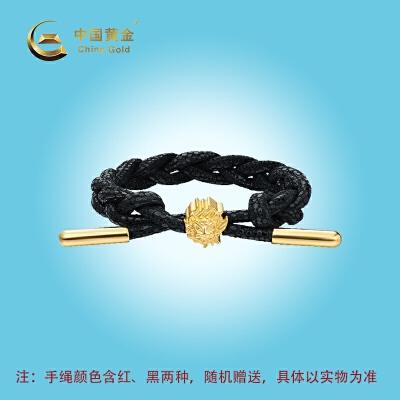 中国黄金《狮王阿醒》系列富狮转运珠时尚珠宝首饰配饰送女友