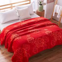 冬季珊瑚绒毯子加厚法兰绒毛毯宿舍单人双人学生保暖毛绒床单单件定制