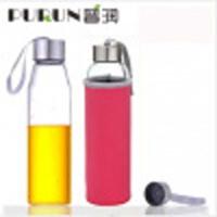 550毫升耐�岵A�水瓶��意��d玻璃杯子�V泉水瓶���w茶杯