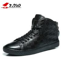 走索马丁靴男真皮短靴英伦高帮皮鞋男士潮流工装靴休闲皮靴zs7901