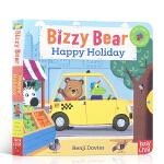 预售 顺丰发货 英文原版 小熊很忙系列绘本Bizzy Bear Happy Holiday 开心假日 幼儿童英语启蒙认