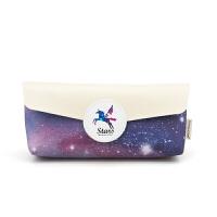 梦幻星空笔袋 韩国简约女生文具盒创意学生铅笔盒女PU文具袋