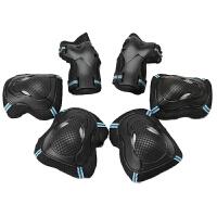 专业轮滑护具6件套护膝护腕套装 儿童男女滑冰旱冰溜冰鞋滑板
