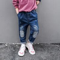 男童牛仔裤春秋款休闲裤男孩童装长裤儿童修身中大童裤子
