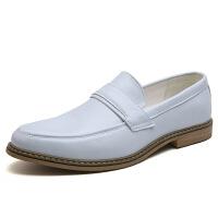 秋季新款男士皮鞋正装绅士鞋商务休闲鞋男温州鞋子批发一件 白色 38