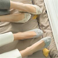 茉蒂菲莉 隐形袜女 夏季蕾丝船袜甜美袜子女浅口袜子硅胶防滑女袜