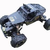越野四驱车高速超燃油动力遥控汽车男孩大脚攀爬赛车儿童玩具c 豪配版:4块原装电池 畅玩30分钟
