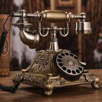 欧式复古电话机座机家用仿古电话机时尚创意旋转电话复古无线电话抖音