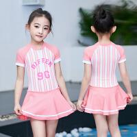 儿童泳衣女童中大童连体裙式公主时尚可爱韩国女孩宝宝防晒小童游泳衣