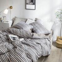 床上四件套棉床单三件套简宿舍1.8m床韩式双人单人男k