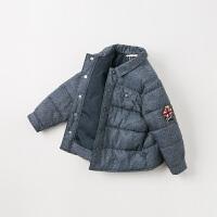 【夹棉】davebella戴维贝拉2019冬季新款男童宝宝棉服DB11755