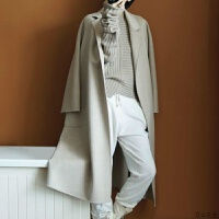 秋冬新款反季双面呢子纯羊毛大衣女中长款过膝毛呢外套羊绒大衣