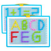 【限时抢】创意295粒蘑菇钉玩具 拼插板组合 幼儿园儿童巧巧钉拼图3-7岁