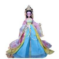 生日礼物古代古装娃娃衣服白浅冰公主娃娃玩具女孩花千骨仙子套装