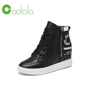 红蜻蜓旗下品牌COOLALA女鞋秋冬休闲鞋板鞋女鞋子高帮鞋HNB6738