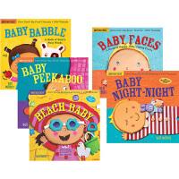 英文原版绘本 0 2 3岁 美国 Indestructibles咬咬书 5册 婴幼儿行为习惯 宝宝晚安 可水洗撕不破 婴幼儿玩具书