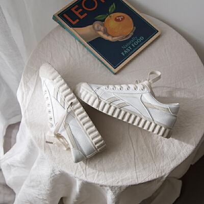 珊瑚橙网红小白鞋女春款2019潮板鞋百搭基础休闲女鞋   冬季时尚新款女鞋男鞋