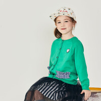 davebella戴维贝拉kids秋季新款女童毛衣中大童针织开衫DBK12267