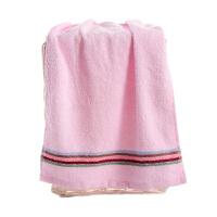 毛巾彩虹纯棉面巾2条强吸水洗脸毛巾粉色洗脸帕