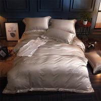 欧式真丝四件套全棉纯棉床单被罩1.8m米双人天丝简约床上用品