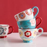 北欧ins陶瓷早餐杯子创意个性潮流大容量咖啡燕麦片马克杯