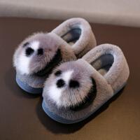 儿童棉拖鞋冬季保暖防滑保暖男童毛毛鞋居家室内女童棉拖鞋